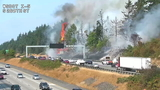 Close call: Neighbors save homes during intense brush fire along I-5 near Kent