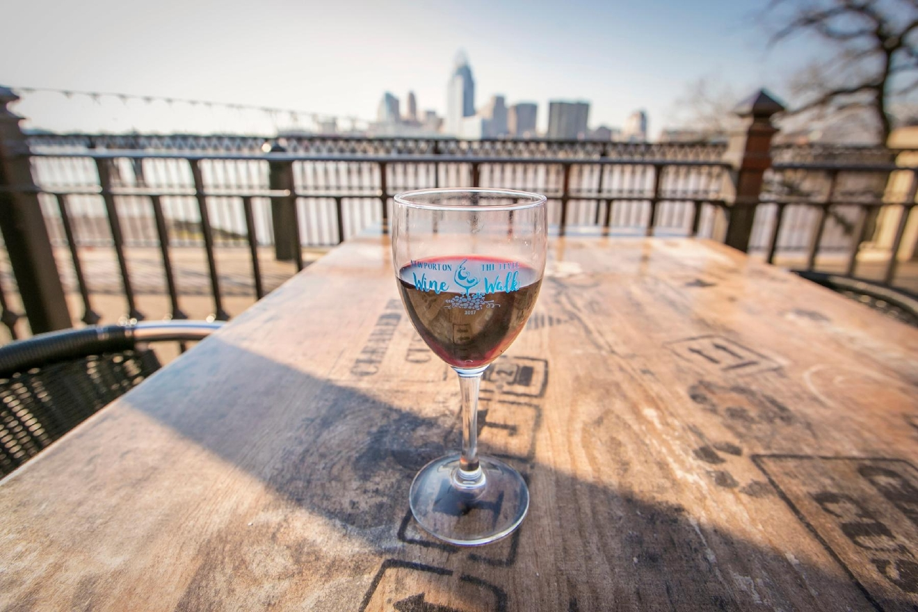 Newport on the Levee held its 11th annual Wine Walk event on Saturday, March 4. Participants had the chance to taste two wines at each of the six participating locations (Aloft, Brothers, GameWorks, Brio, Axis Alley, and Dewey's). / Image: Mike Bresnen Photography // Published: 3.5.17