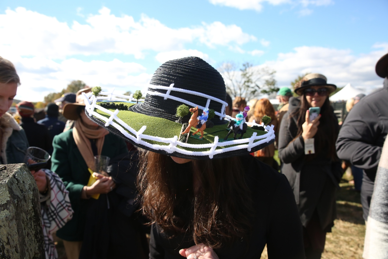 Megan Mondsheine and her hat, which won for the best racing theme. (Amanda Andrade-Rhoades/DC Refined)