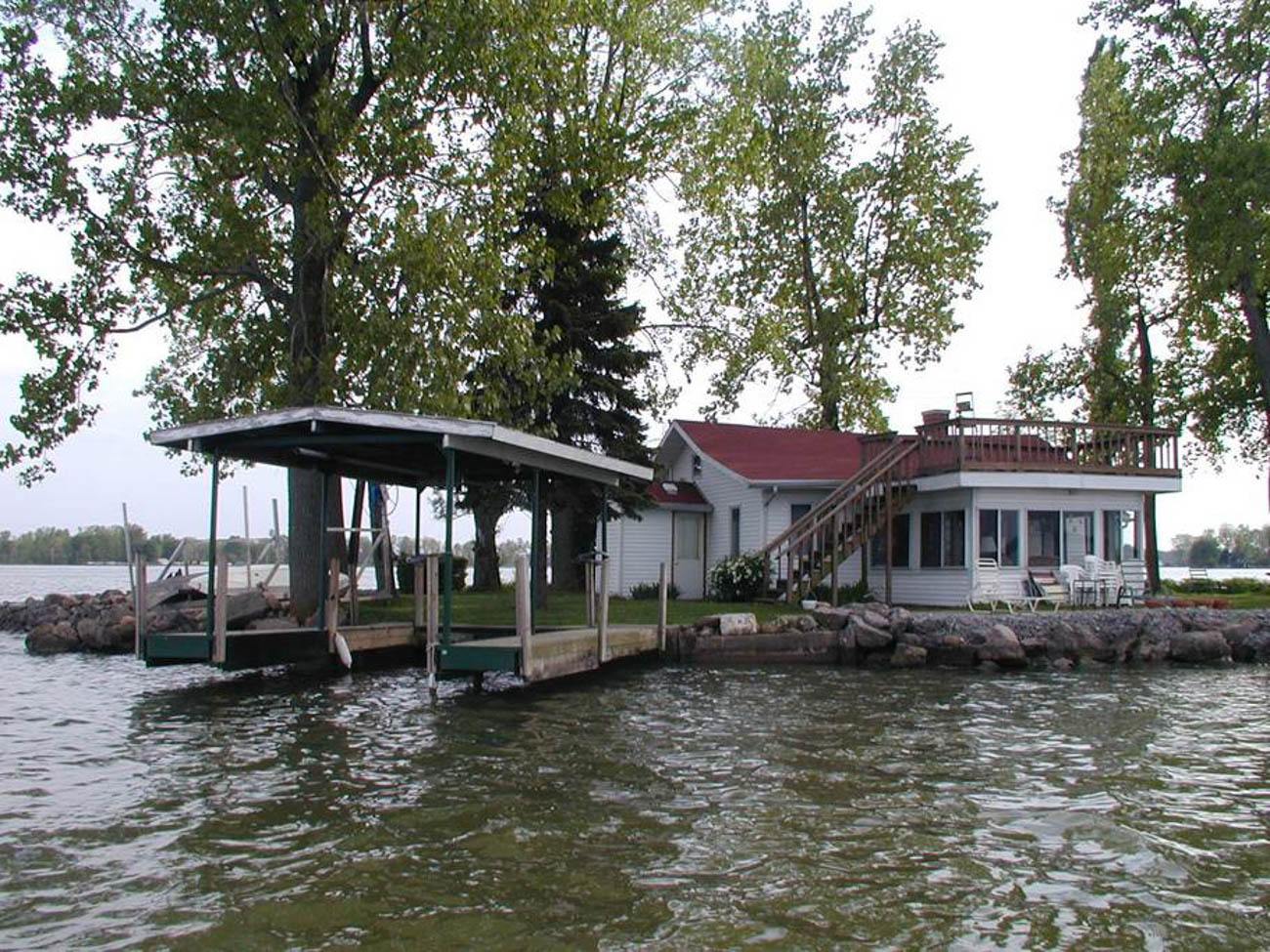 Turtle Shell Island on Indian Lake was once owned by a silent movie star, and you may feel like one too when a boat delivers you to your own private island. The cottage on Indian Lake has been transformed into an ultra-private vacation destination with everything you need for a memorable stay like fishing poles, a shuffleboard, and plenty of space for grilling out and swimming under the sun. The 2-bedroom, 1-bath space sleeps up to six guests. It takes a little over two hours to get there from Cincinnati. / Image: TR Massey // Published: 5.21.19