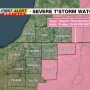 WSBT 22 First Alert Weather: Severe Thunderstorm Watch in effect for eastern areas