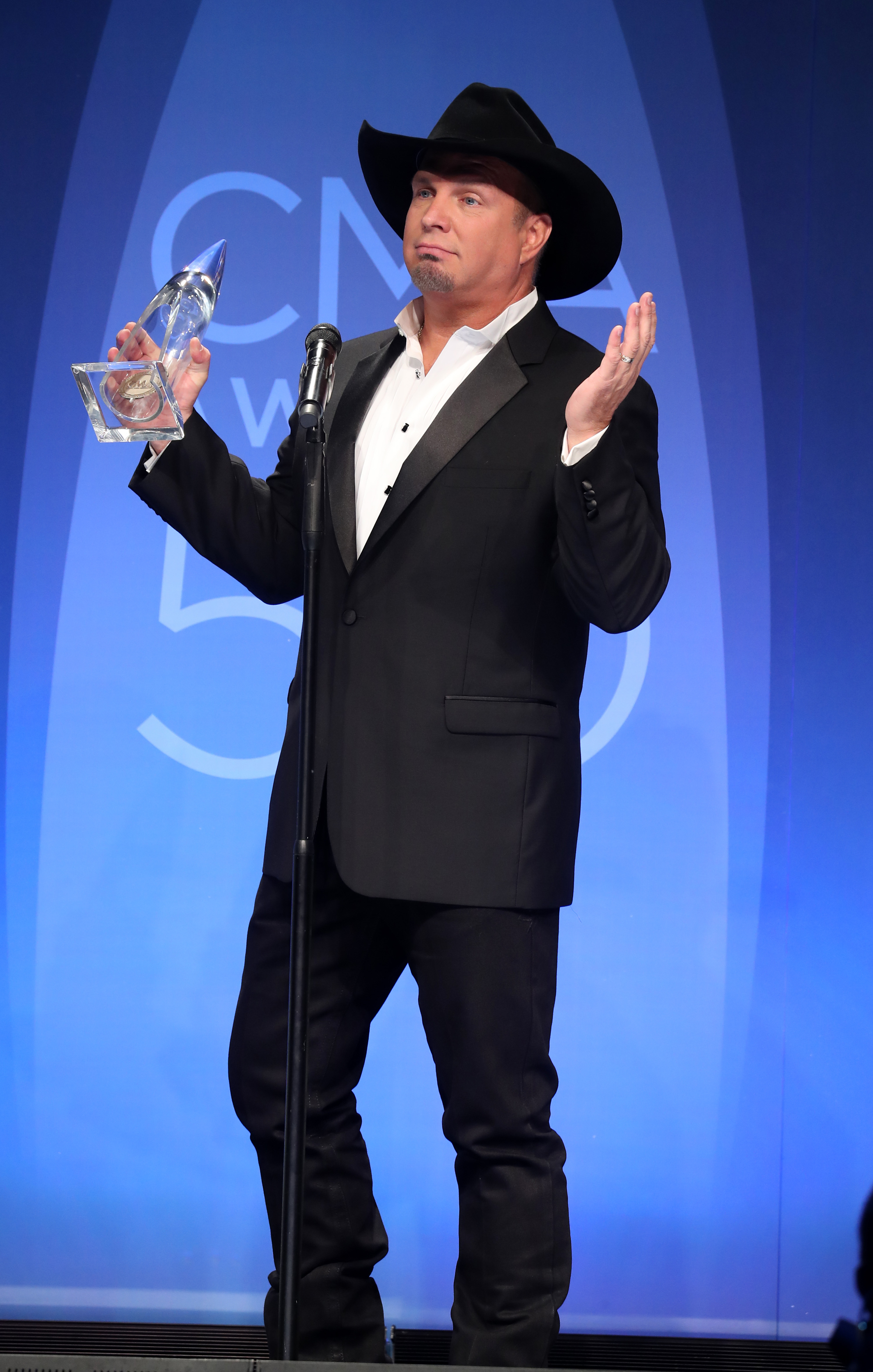 50th Annual CMA Awards Press Room at Brigestone Arena - Press Room                                    Featuring: Garth Brooks                  Where: Nashville, Tennessee, United States                  When: 02 Nov 2016                  Credit: Judy Eddy/WENN.com