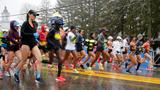USA's Linden wins wet, windy Boston Marathon