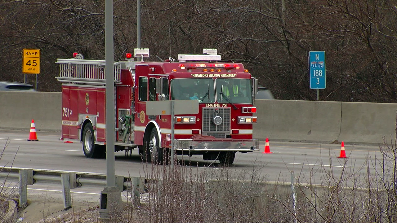 Person was struck in the southbound lanes of I-75 near Kyles Lane (Randy Erwin, WKRC)