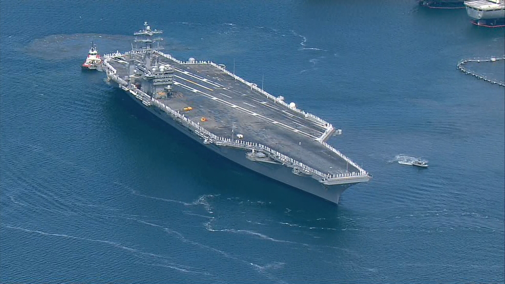 puget sound based supercarrier nimitz heads out could be korea