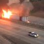 Massive vehicle fire halts traffic on I-20 in Shreveport
