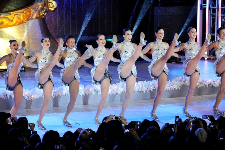 The Radio City Rockettes perform during the 81st annual Rockefeller Center Christmas tree lighting ceremony on Wednesday, Dec. 4, 2013 in New York. (Photo by Evan Agostini/Invision/AP)