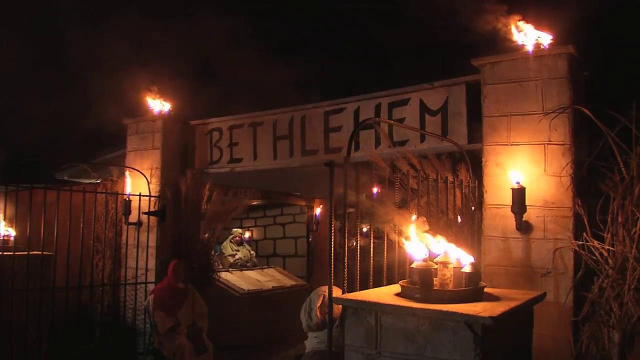 The annual Walk Through Bethlehem in Hometown in Putnam County has become a Christmas tradition for thousands. (WCHS/WVAH File Photo)<p></p>