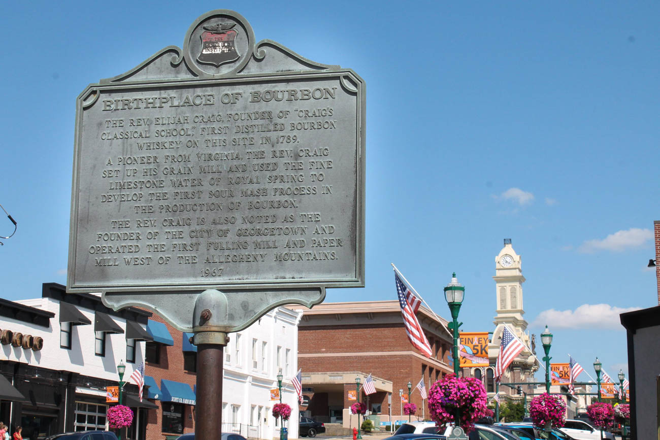 Georgetown is the unofficial birthplace of bourbon. Though it is believed the very first bourbon was distilled in a spring that runs through the town, it is, unfortunately impossible to know who made it first. / Image courtesy of Georgetown/Scott County Tourism // Published: 11.1.18