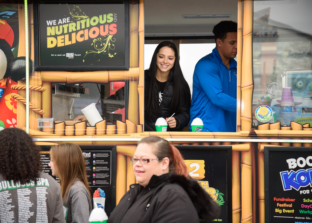 Kona Ice's truck served flavored ice at the event. / Image: Phil Armstrong // Published: 2.1.20