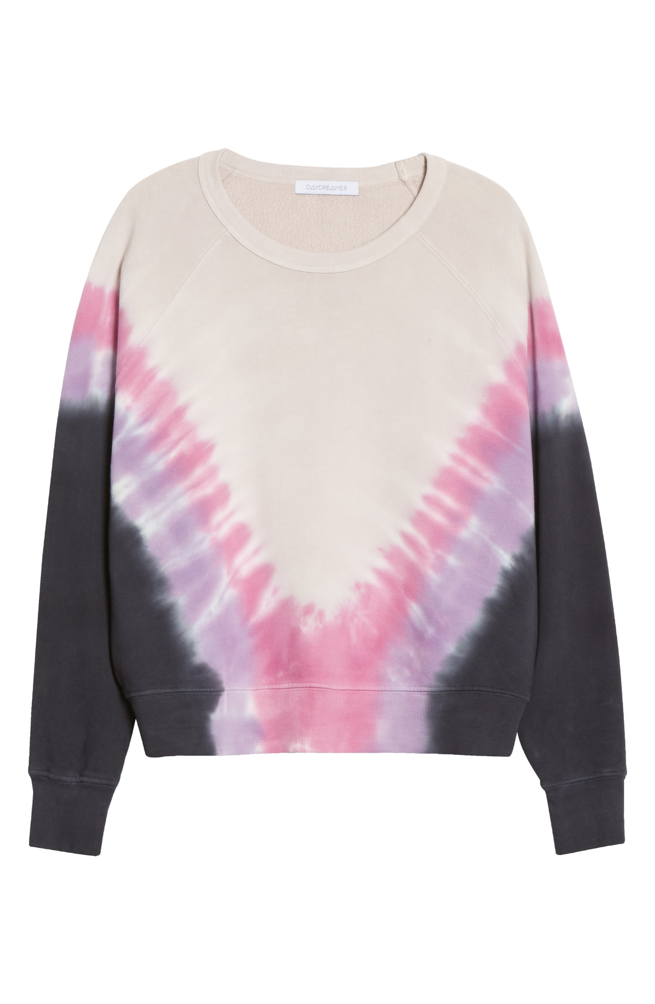 "Since 2020 is alllll about staying home - how cozy is this{&nbsp;}<a  href=""https://www.nordstrom.com/s/daydreamer-tie-dye-long-sleeve-crop-t-shirt/5673236?origin=keywordsearch-personalizedsort&breadcrumb=Home%2FAll%20Results%2FWomen%27s%20Clothing&color=mint%2F%20denim"" target=""_blank"" title=""https://www.nordstrom.com/s/daydreamer-tie-dye-long-sleeve-crop-t-shirt/5673236?origin=keywordsearch-personalizedsort&breadcrumb=Home%2FAll%20Results%2FWomen%27s%20Clothing&color=mint%2F%20denim"">Daydreamer Flying V Varsity Crew Sweatshirt</a>? $49.90 (after sale $87). (Image: Nordstrom)"