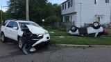 Rollover accident injures two in Flint