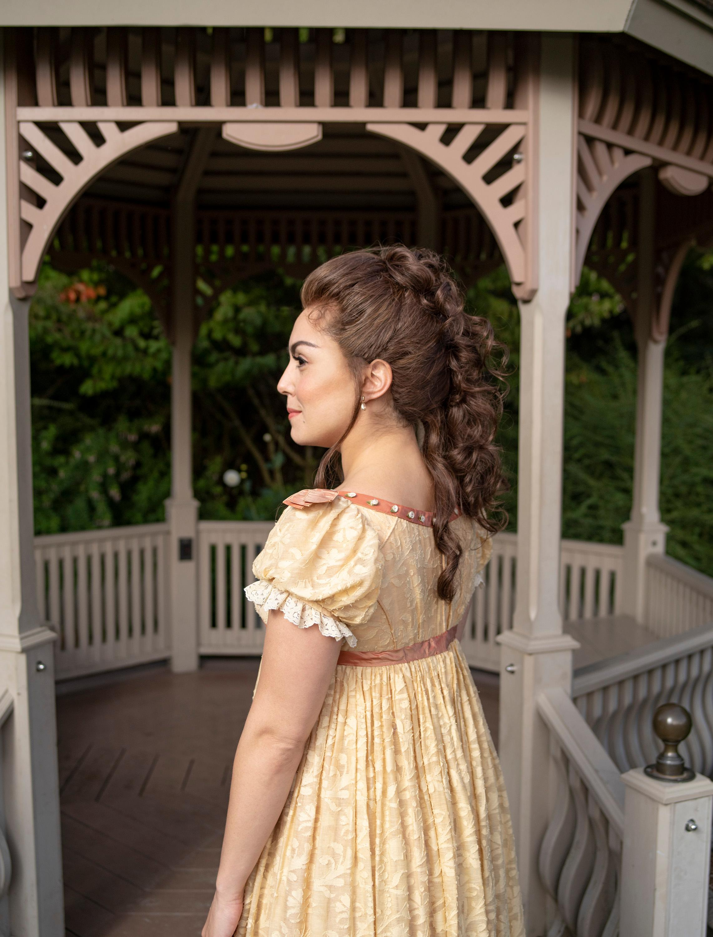 Olivia Hernandez stars as Elizabeth Bennet in 'Austen's Pride' at The 5th Avenue Theatre (Photo Credit: Mark Kitaoka)
