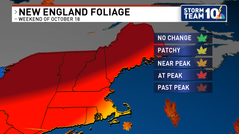 Fall color nearing peak in Southern New England
