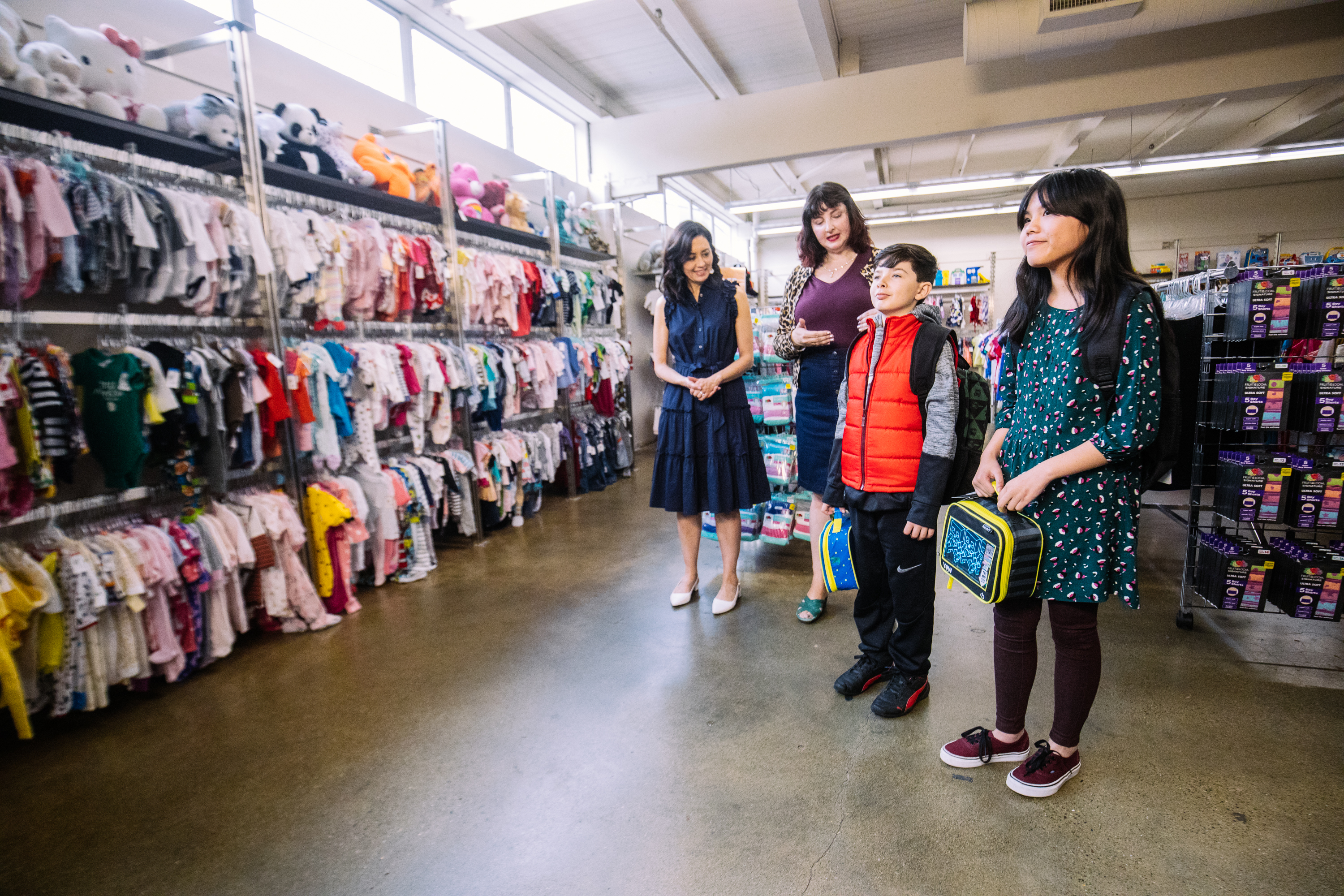 Seattle Goodwill is a great place for families to score the trendiest looks for back to school. That includes retro modern, flannel and  comfy cool! Plus Goodwill has new items for sale too, including backpacks and lunch boxes. (Photo: Seattle Goodwill){&nbsp;}<p></p>