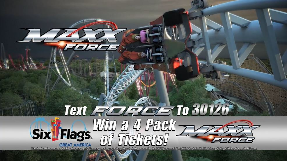 Six Flags Maxx Force Text to Win Contest Rules