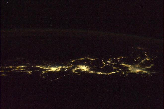 Night view of the Japan Islands. Photograph shows up to Hokkaido from Shikoku. (Photo & Caption courtesy Koichi Wakata (@Astro_Wakata) and NASA)