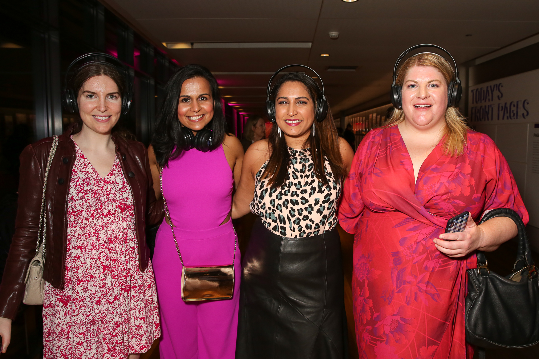 Newseum Nights 'In Bloom' have a pink dress code, but we love these fresh takes on it - especially that leather skirt!{&nbsp;}(Amanda Andrade-Rhoades/DC Refined)<p></p><p></p><p><br></p>