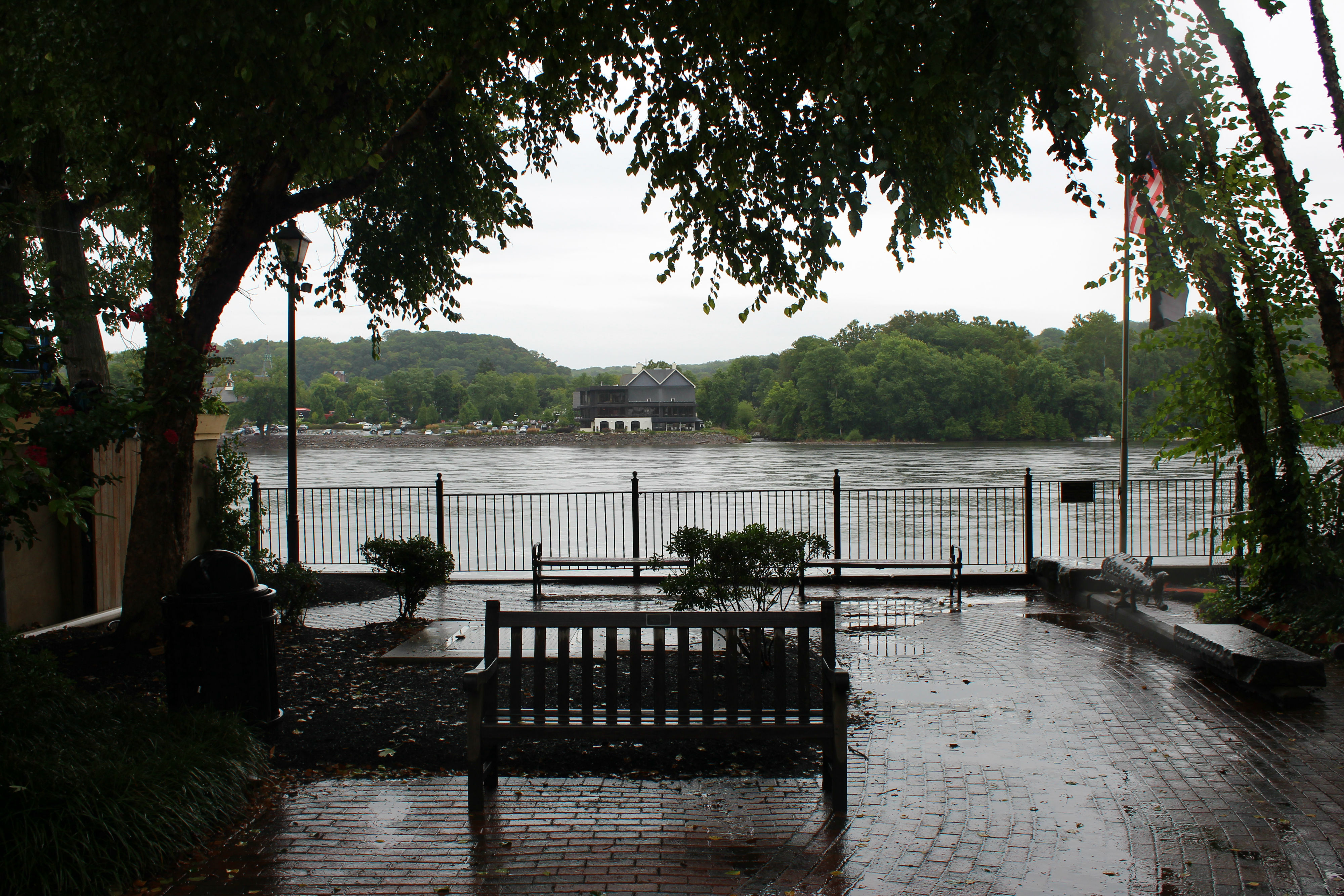 You can walk across the Delaware River on a bridge to Lambertville, New Jersey. The Delaware River serves as the state line. There are places to stay and things to do in Lambertville, too, so definitely check it out!{&nbsp;}(Image: Julie Gallagher)<p></p>