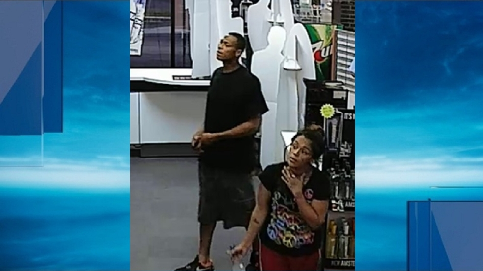 Police: Liquor store robbery suspects fled in tan-colored