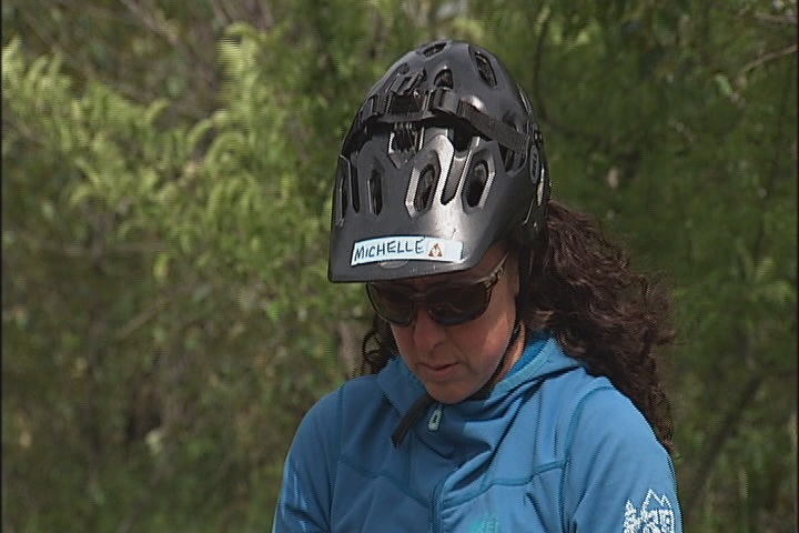 Michelle Emmons is a candidate for the Athlete with Heart award at the SportsTown Awards on May 31. She co-founded the group &quot;No Apologies,&quot; which is designed to encourage women to buck fear and anxiety through mountain biking. (SBG)<br>