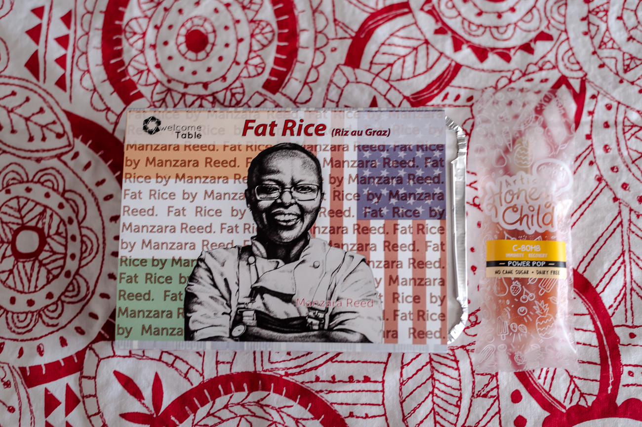 Welcome Table Fat Rice & a popsicle{ }/ Image: Kellie Coleman // Published: 1.7.21{ }