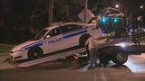 Suspect detained after bicycle collides with Rochester police car