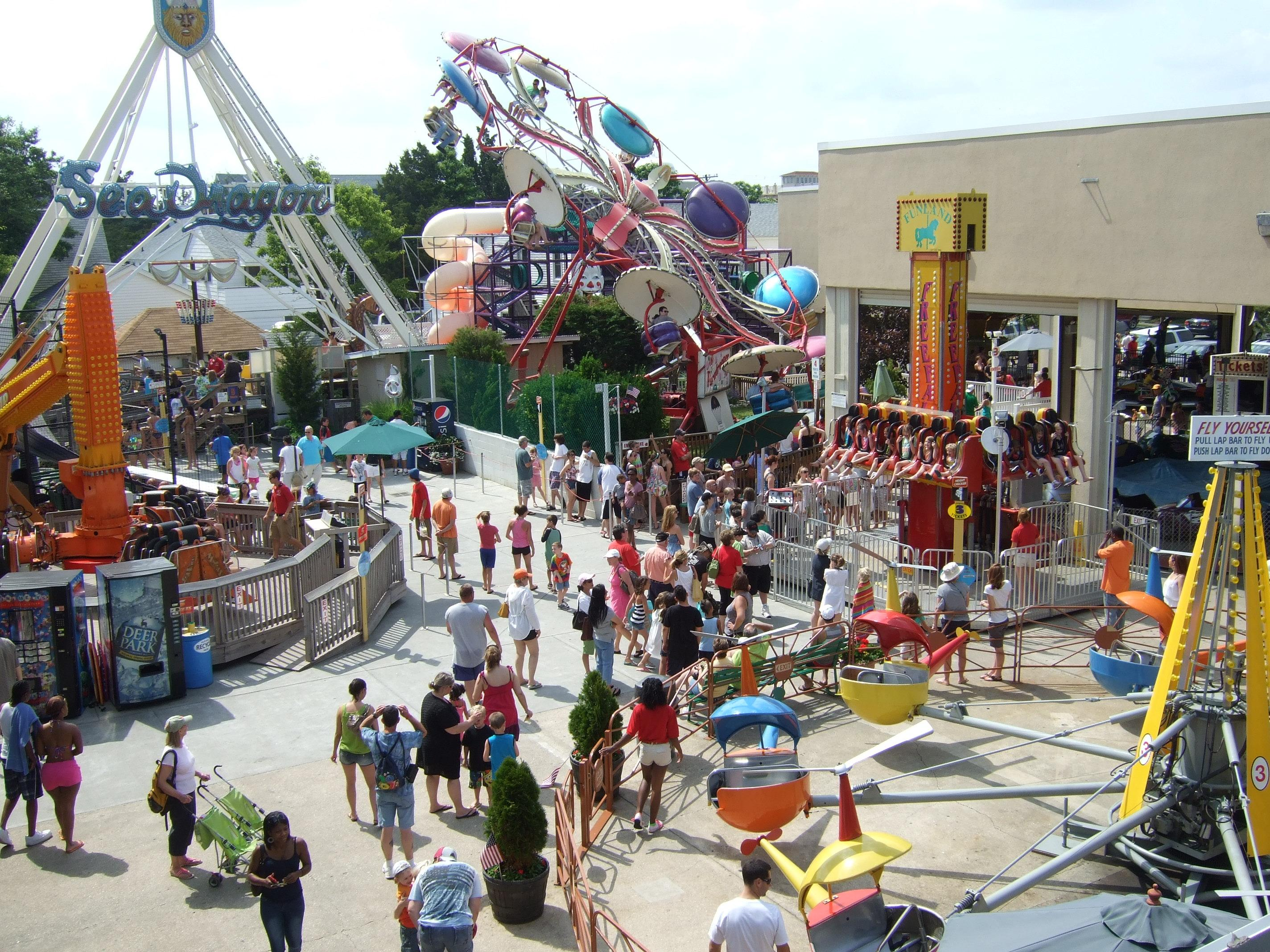 If you're asking yourself what to do, we have three words for you: Funland, Funland and Funland! You don't even need to be a parent of wee ones to appreciate the groovy retro rides or a rousing game of Whac-A-Mole or Skee-Ball. (Image: Courtesy VisitDelaware.com)