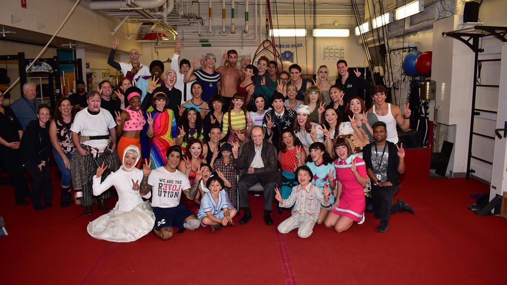 Bob Newhart celebrates 90th birthday at 'The Beatles LOVE' in Las Vegas
