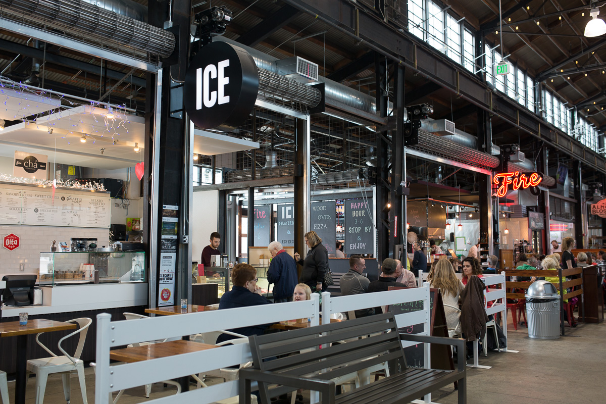 Ice at Pybus Market (Image: Paola Thomas / Seattle Refined)