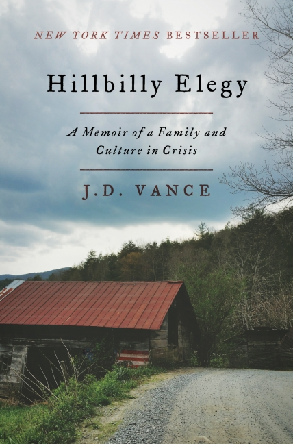 """Hillbilly Elegy"" by J.D. Vance (Image: University Book Store / Harper)"