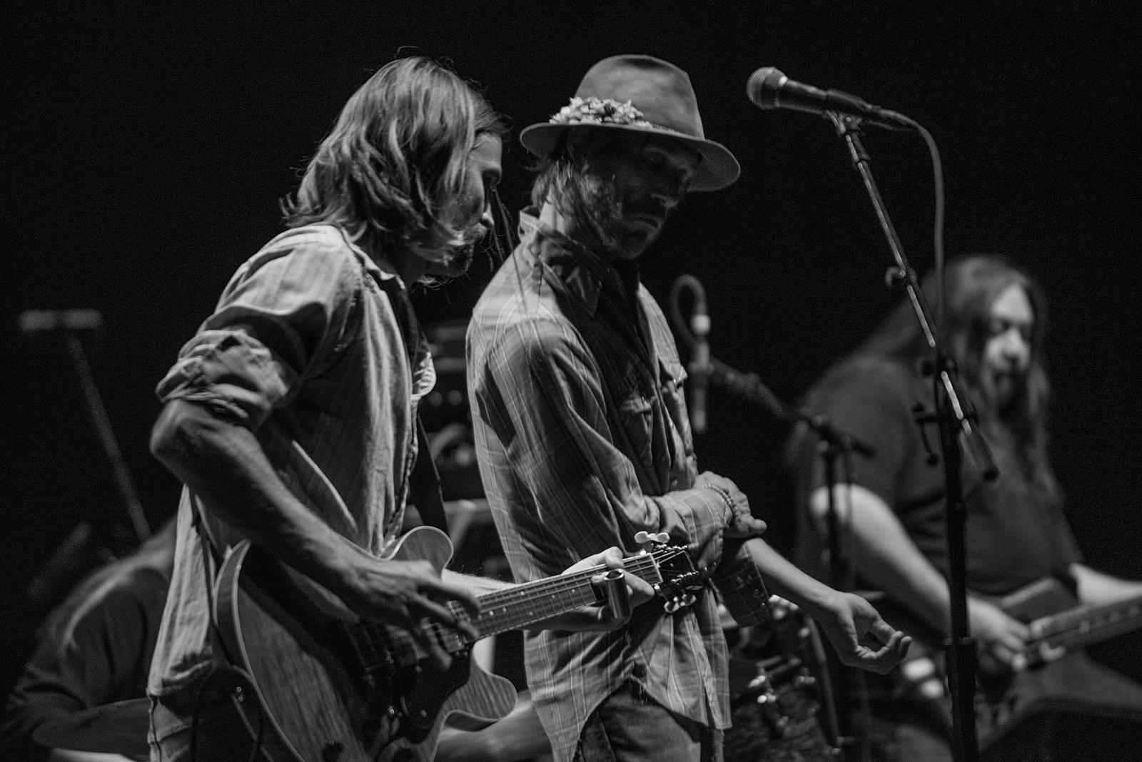 Hard Working Americans, a supergroup of sorts built up of talents from several rock bands, opened up the stage Friday at a sold-out performance of Tedeschi Trucks Band at Portland's Keller Auditorium. The band features Portland native Todd Snider on vocals, Neal Casal of Chris Robinson Brotherhood on guitar, and bassist Dave Schools along with drummer Duane Trucks (Derek Trucks' brother) from Widespread Panic. (KATU Photo taken 11-3-2017 by Tristan Fortsch)