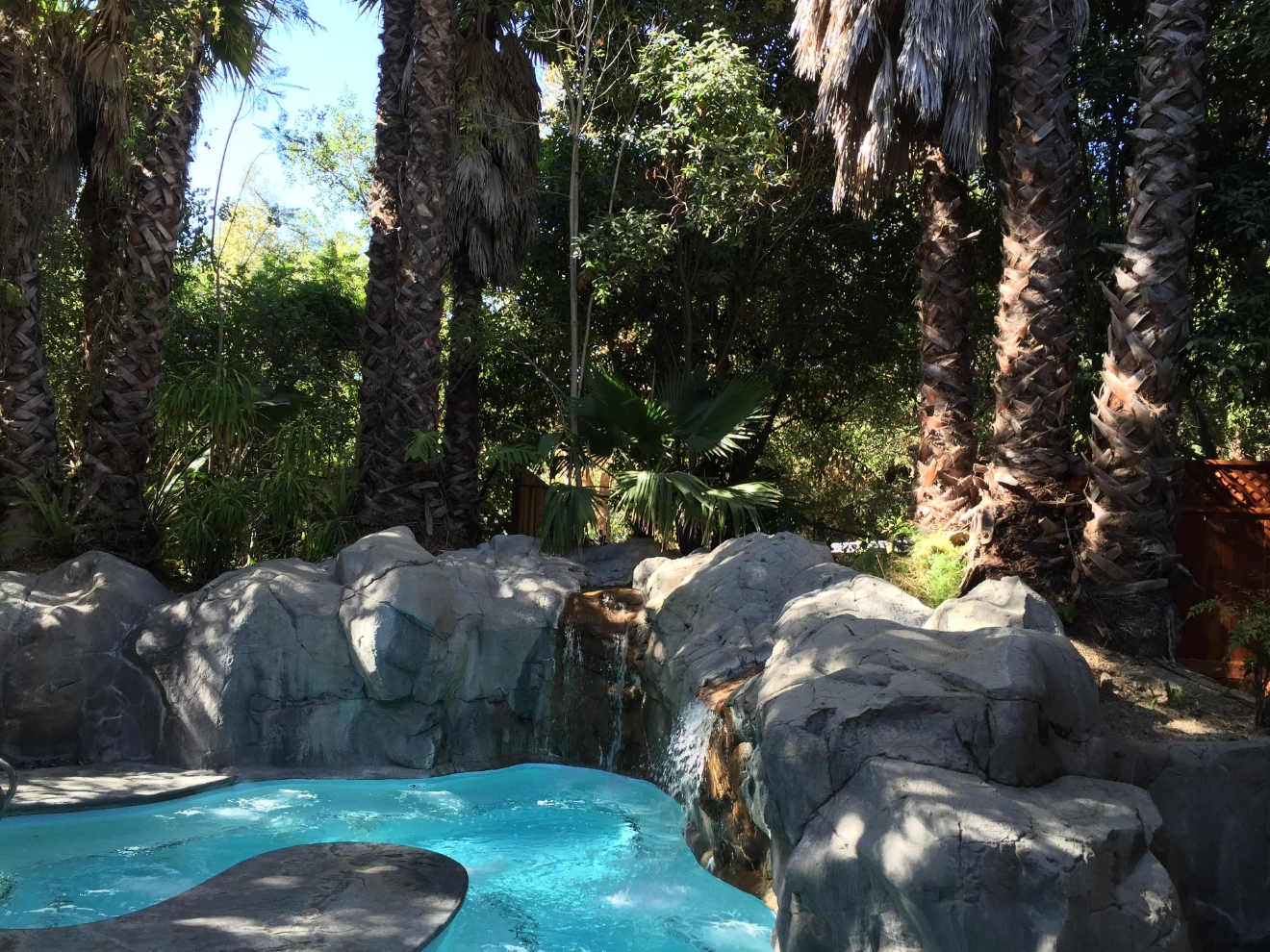 The Oasis Waterfall Lagoon at Sycamore Mineral Springs is perfect for groups of up to 30.