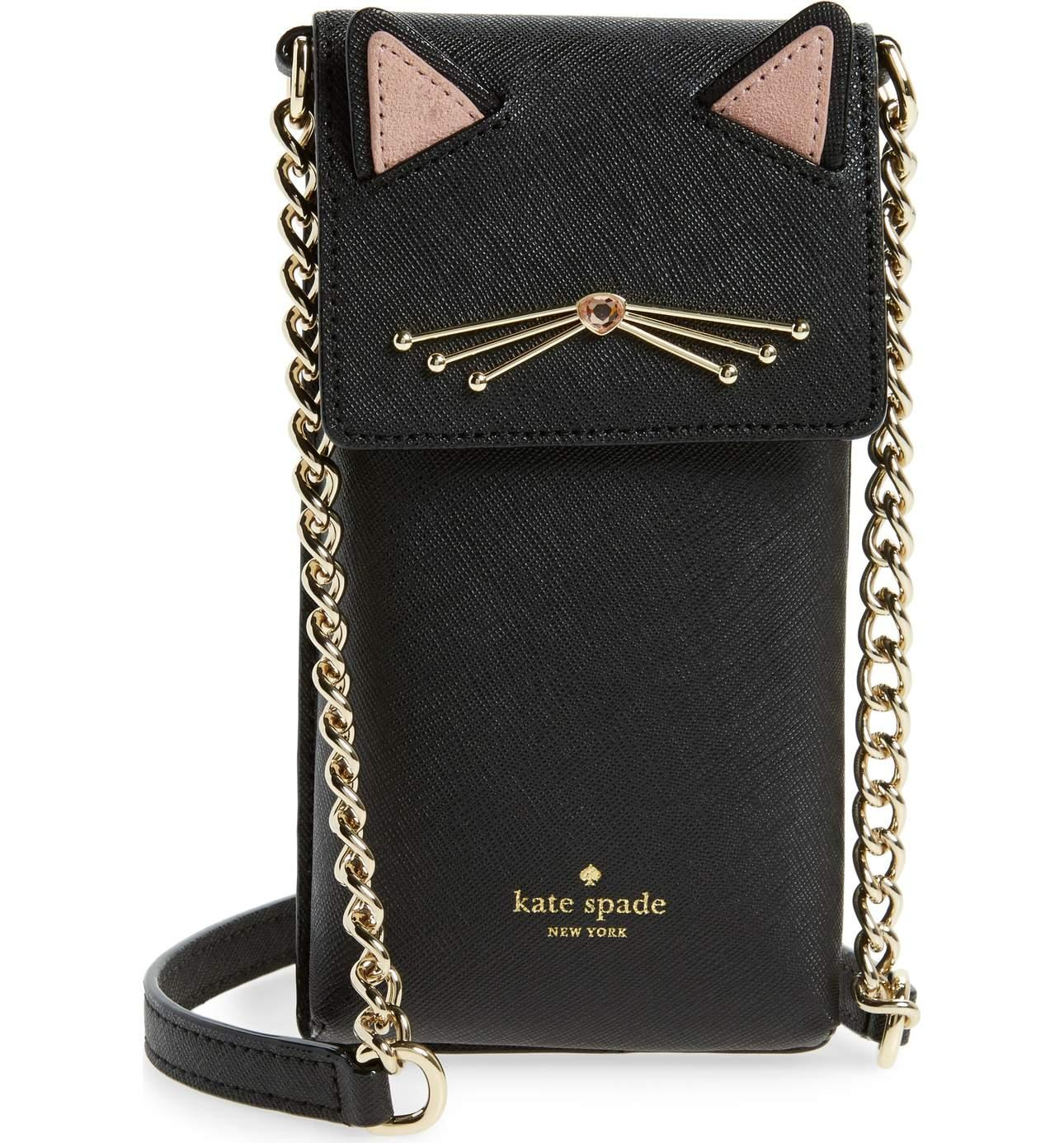 <p>Cat Smartphone Crossbody Bag - $128. This Kate Spade bag is to die for, SO CUTE!{&nbsp;} Perfect for a high school gal or dare I say the 'cat lady' in your hood? Either way, its darling.{&nbsp;} Cost: $128. For purchase at Nordstrom or Kate Spade. (Image: Nordstrom)</p><p></p>