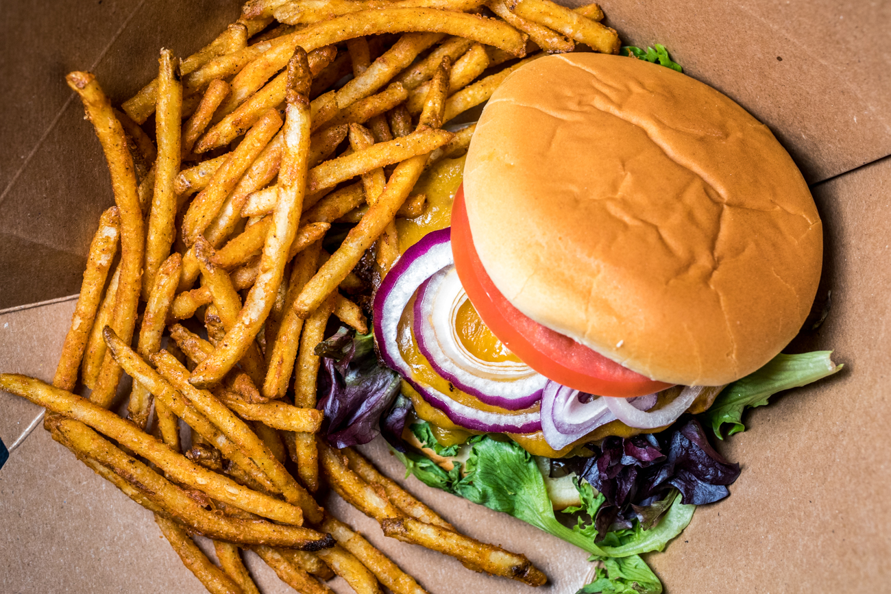 Burger and fries / Image: Catherine Viox{ }// Published: 4.13.20