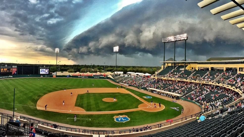Houston, we have a problem: Surreal storm clouds interrupt Astros spring training game