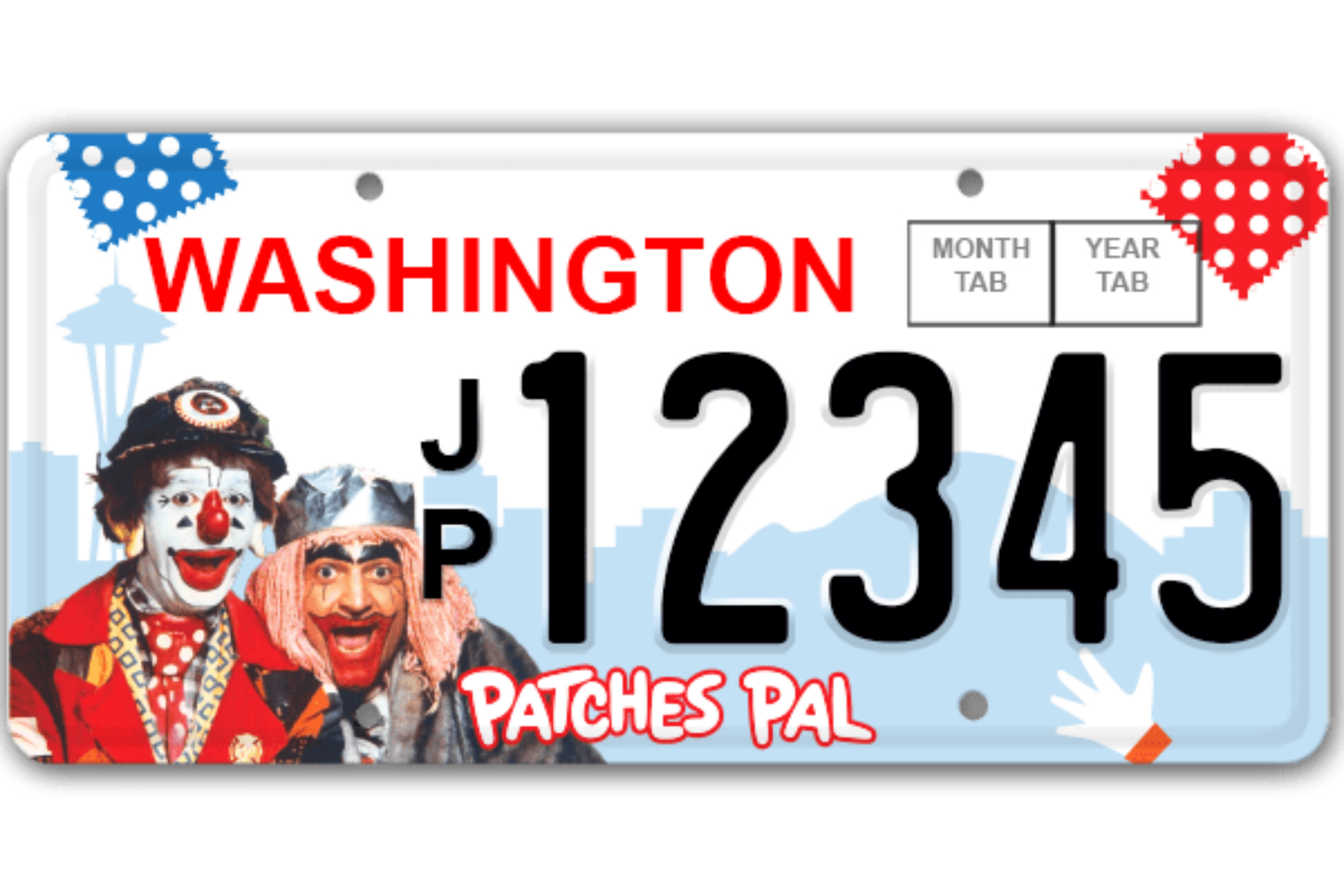 <p>The proposed J.P. and Gertrude license plate design (Credit: JPPatches.com)</p>