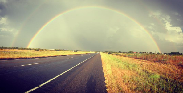 IMAGE: IG user @__great_scott_ / POST: West Texas Rainbow.