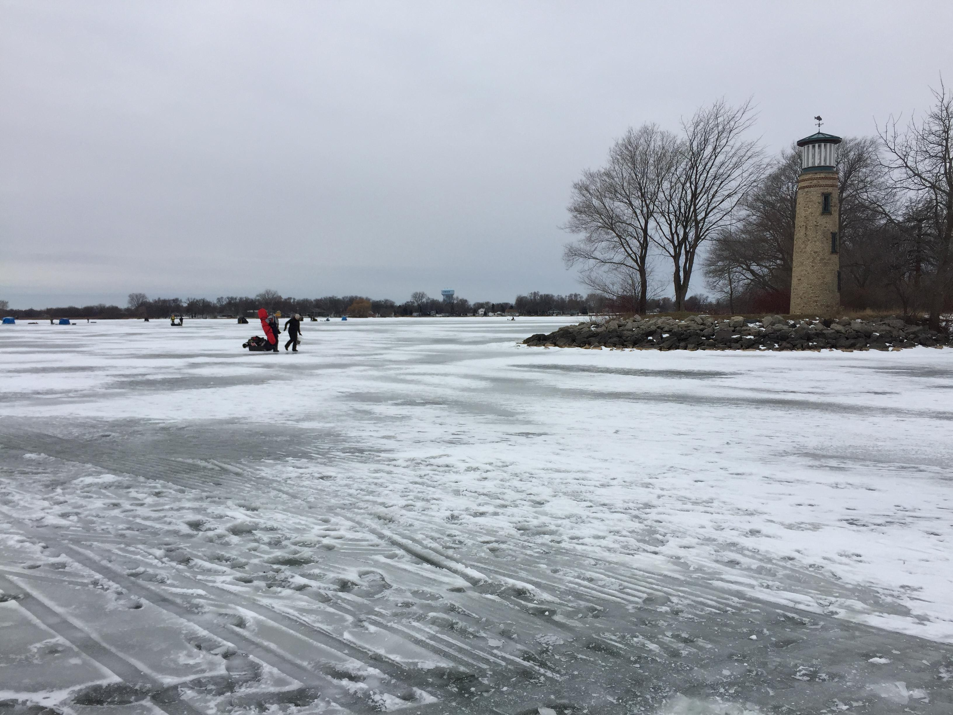 Asylum Bay on Lake Winnebago, December 20, 2017 (WLUK/Eric Peterson)