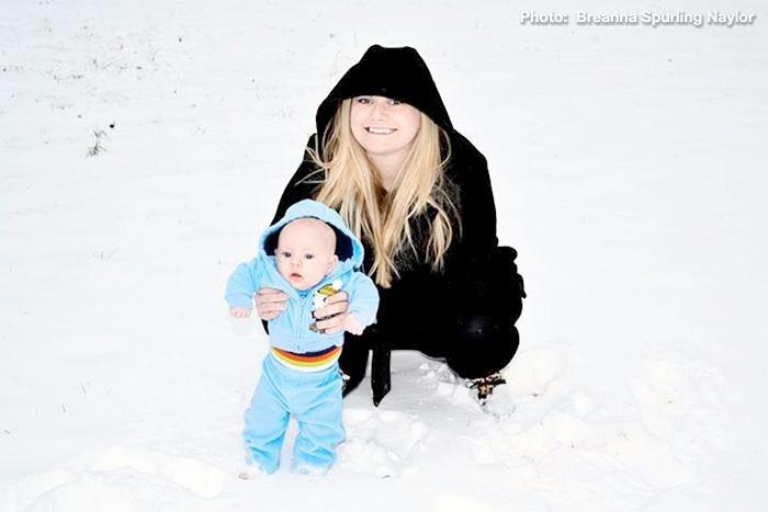 Sawyer Dayle's First Snow! He is 3 months old