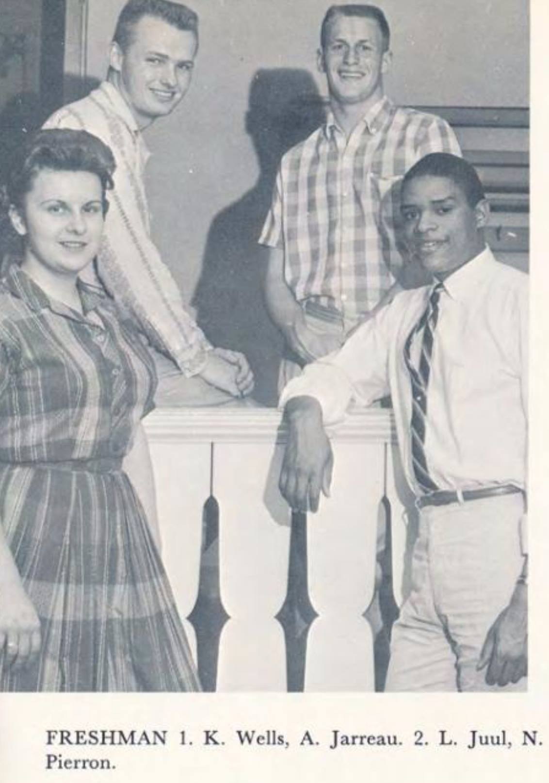 "Al Jarreau poses with the rest of the Ripon College freshman class officers, as seen in the school's 1959 ""Crimson"" yearbook. (Photo courtesy Ripon College)"