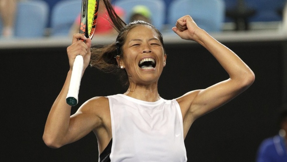Su-Wei Hsieh was one of many players who played a leading role in a chaotic opening week at the Australian Open. (AP)