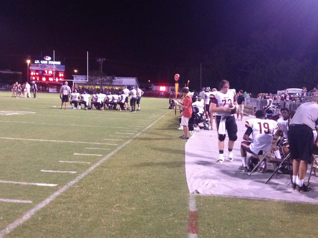 ABC 33/40 at Pinson Valley-Hartselle game Friday night, August 22, 2014.