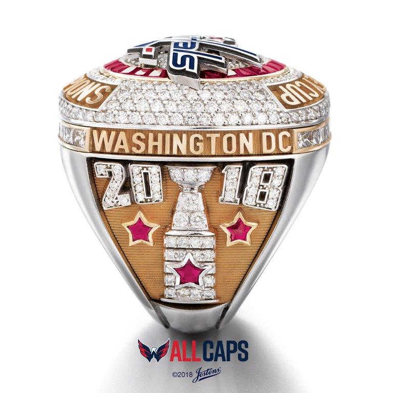 Overall, the rings weigh 10.2 carats. (Image: Courtesy Washington Capitals)