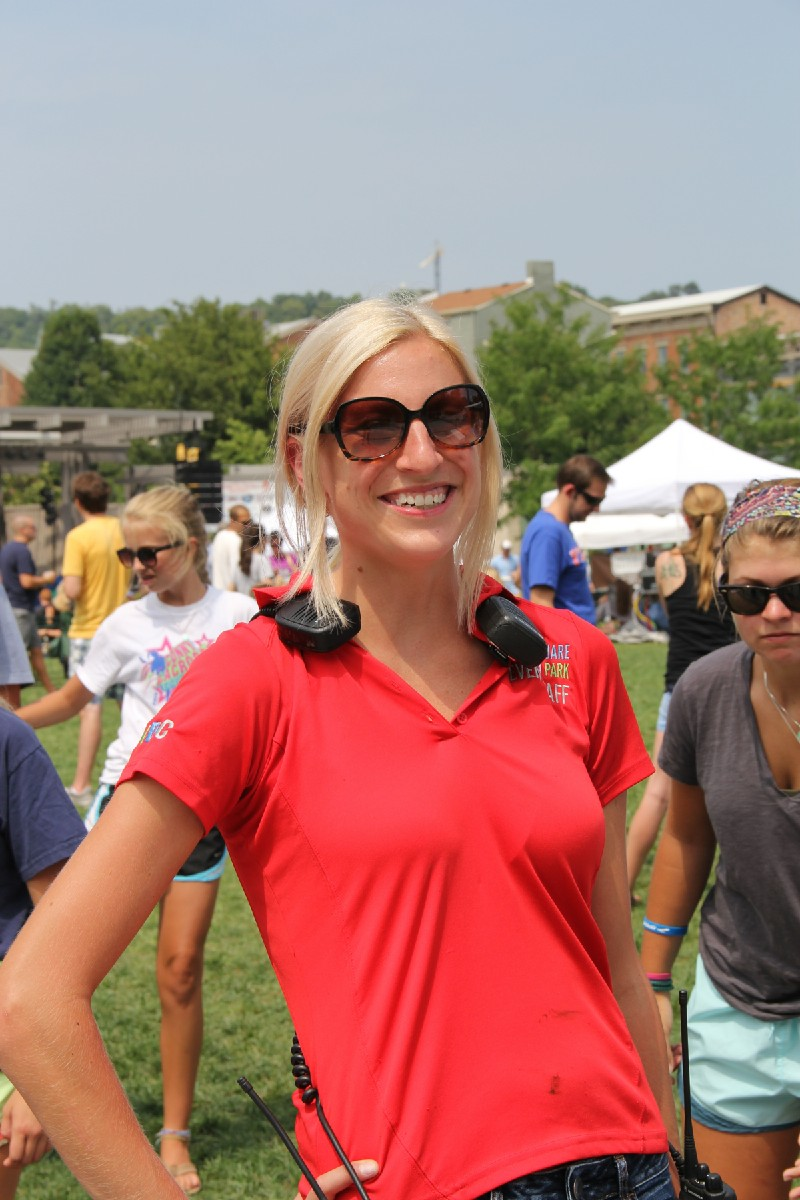 Jennifer Bergman, Operations Assistant with 3CDC, rocking the operations behind the scenes at Taste of OTR (Image: Clay Griffith / Cincinnati Refined)