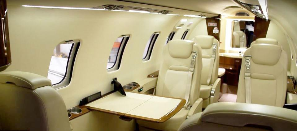 An interior view of the Lear 70.