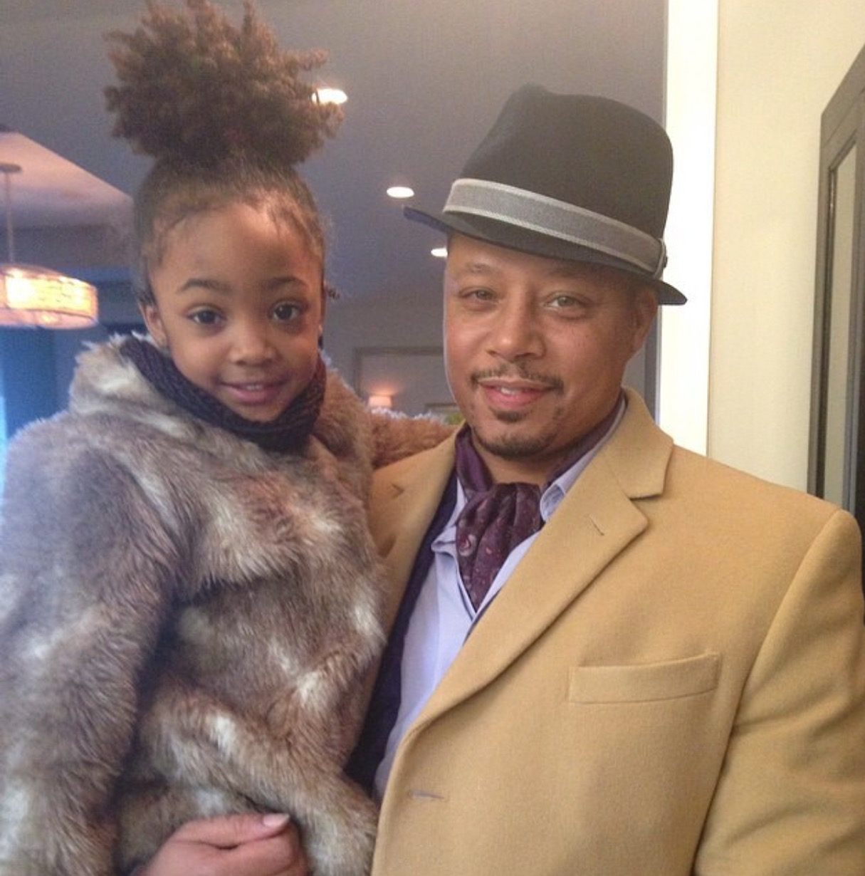 Leah Jeffires with Terrence Howard who plays Lucious Lyon on Empire.