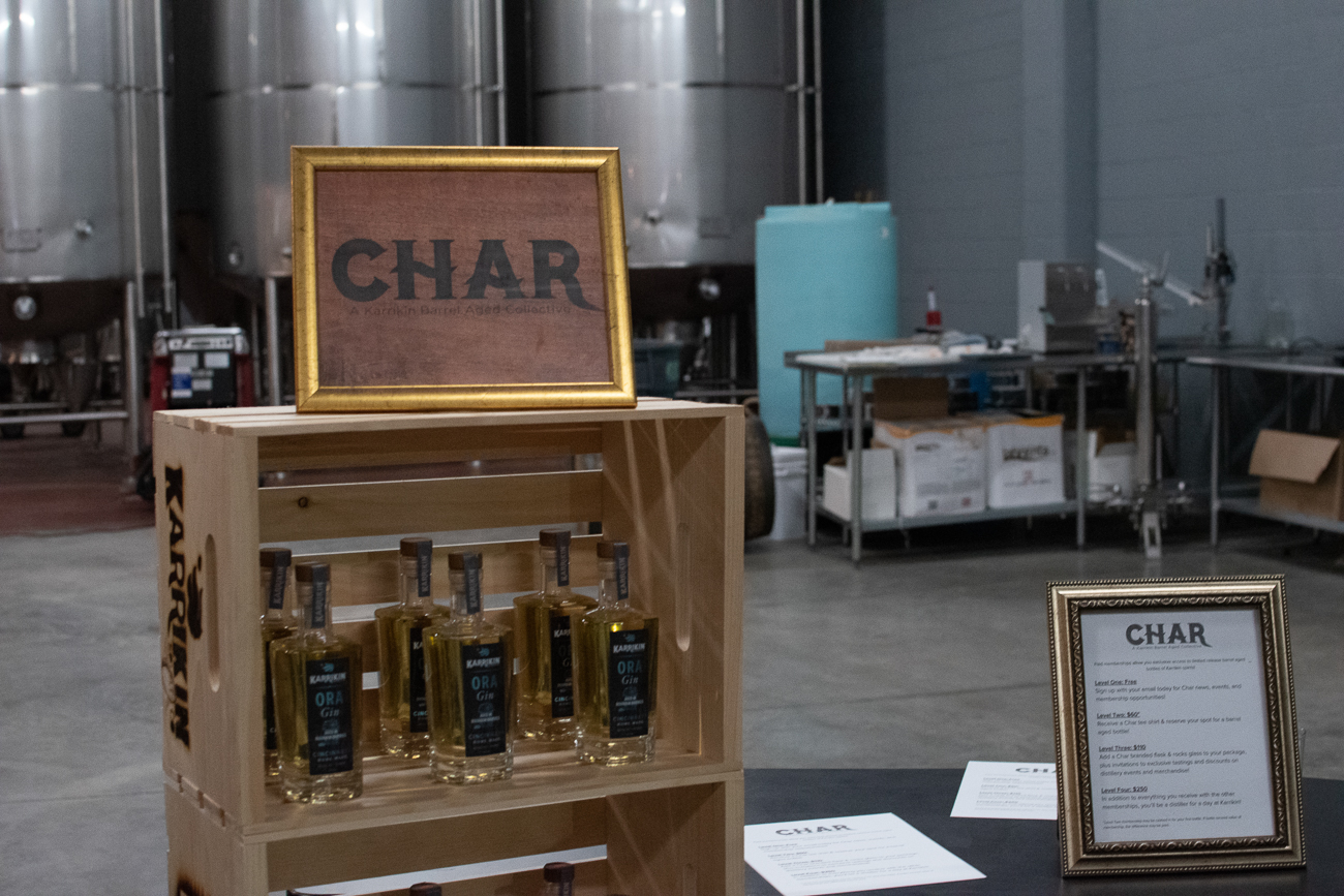 As part of its One Year Revelry, Karrikin Spirits Company announced Char: a Karrikin Barrel Aged Collective. Char is a barrel-aged spirits group for customers and guests with membership levels ranging from free involvement to a chance to be distiller for a day. / Image: Matt Groves // Published: 12.8.19