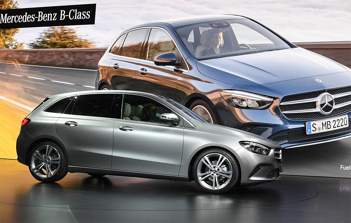 02 October 2018, France, Paris: The new Mercedes-Benz B-Class will be presented at the Paris International Motor Show on the 1st press day. From 02.10. to 03.10.2018 the press days will take place at the Paris Motor Show. It will then be open to the public from 04.10. to 14. October. Photo: Uli Deck/dpaWhere: Paris, Île-de-France, FranceWhen: 02 Oct 2018Credit: Uli Deck/picture-alliance/Cover Images
