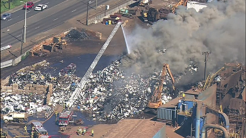 Fire Burns Scrap Metal Pile In Tacoma KOMO - Schnitzer scrap yard